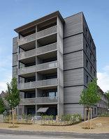 Holzwohnbauten im Dragoner-Quartier Foto: Walter Ebenhofer