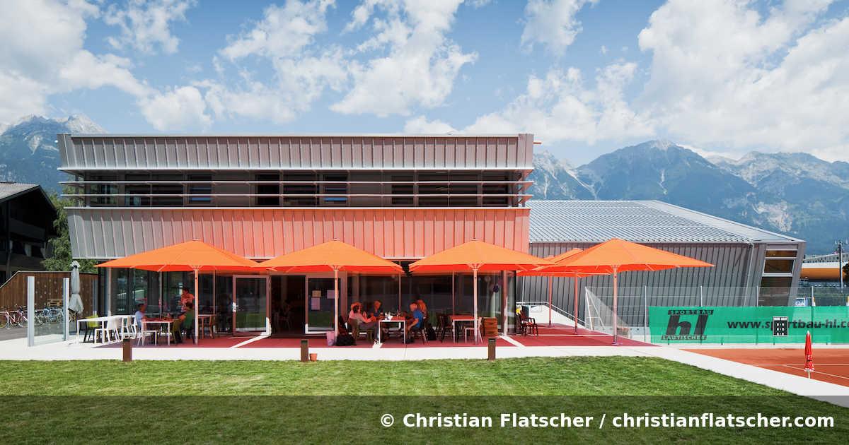 Tennisanlage Wiesengasse, beaufort Architekten - Innsbruck (A) - 2018. Foto: Christian Flatscher