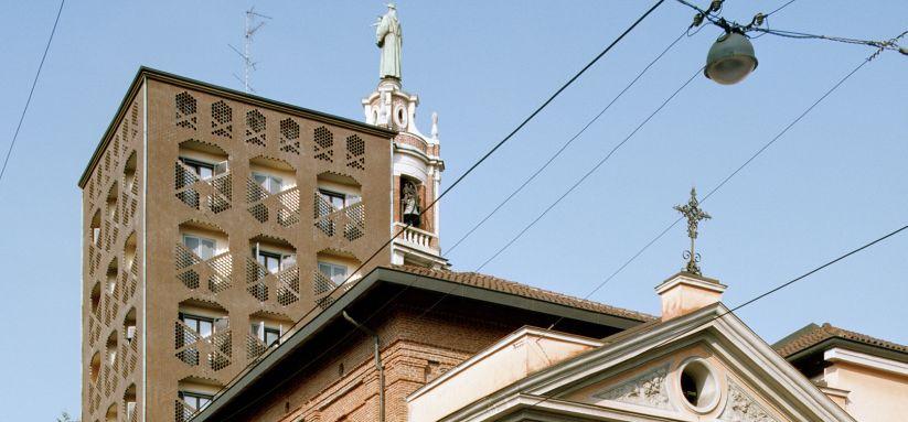 Convento di San Antonio Frati Minori, Via Carlo Farini 10, Mailand. Architektur: Luigi Caccia Dominioni, 1960-63, Foto: Werner Feiersinger