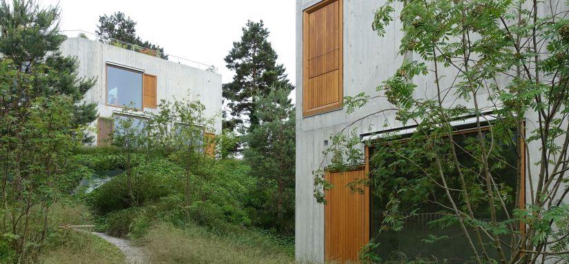 Zweifamilienhäuser, Staehelin Meyer Architekten, Riehen (BS), 2014, Foto: Staehelin Meyer Architekten
