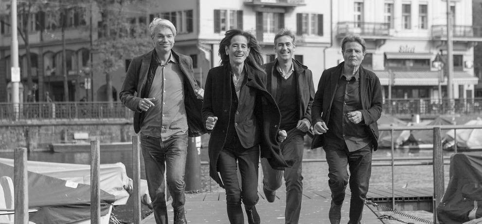 Yves Schihin, Marianne Burkhalter, Urs Rinklef und Christian Sumi, fotografiert von Heinz Unger