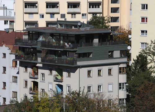 Aufstockung Unterbergerstraße, Foto: Birgit Koell