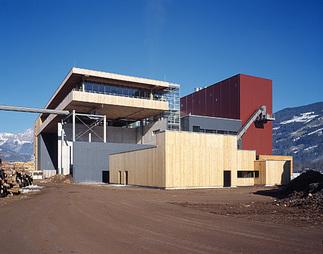 Biomasse-Heizkraftwerk, Foto: Günter Richard Wett