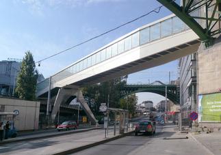 Skywalk Fußgänger- und Radfahrerbrücke, Foto: Bulant & Wailzer