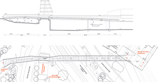 Skywalk Fußgänger- und Radfahrerbrücke, Plan: Bulant & Wailzer