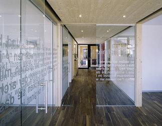 Bürogebäude Zenz Holzbau, Foto: Bruno Klomfar