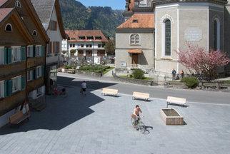 Dorfplatz Bezau, Foto: Gisela Erlacher