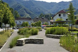 Neugestaltung Ortszentrum Reichraming, Foto: Henning Koepke