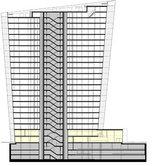 Bürohochhaus Hoch Zwei, Plan: Henke Schreieck Architekten