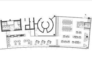 Flughafen Lounge, Plan: illichmann architecture
