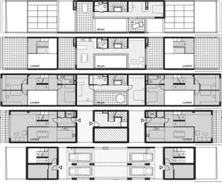 Atriumsiedlung Orasteig, Plan: Walter Stelzhammer