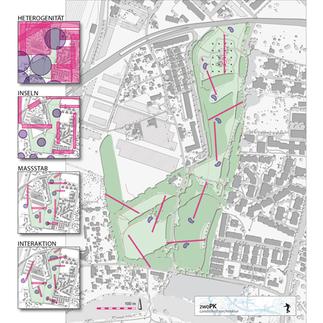 Grünzug Mühlgrund, Plan: zwoPK Landschaftsarchitektur