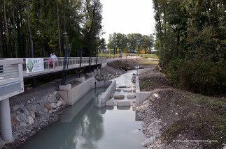 Landschaftsgestaltung Wasserkraftwerk Sohlstufe Lehen, Foto: Freiland Umweltconsulting ZT GmbH