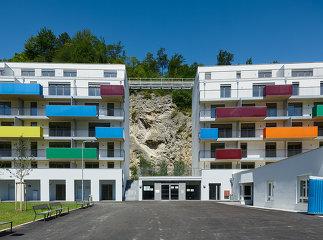"""Wohnhausanlage """"Waldmühle Rodaun"""", Foto: Bruno Klomfar"""