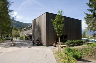 Hauptgebäude und Badehaus Natterer See, Foto: Nikolaus Schletterer