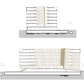 Wohn- und Bürohaus Höttinger Au, Plan: Manzl Ritsch Sandner
