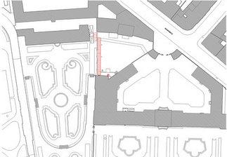 Belvedere Wien - Verbindungsgang zwischen dem Unteren Belvedere und der Orangerie, Plan: Kuehn Malvezzi Architekten