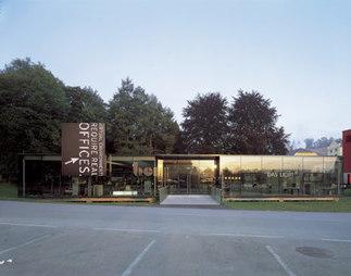 Büro- und Ausstellungspavillon Bene – Zumtobel Staff, Foto: Paul Ott