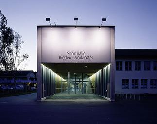 Schulsporthalle Rieden Vorkloster, Foto: Bruno Klomfar