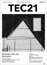 TEC21 2015|36 Versuche über die Baukultur