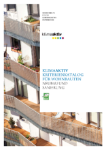 klimaaktiv Kriterienkatalog für Wohnbauten 2015 © klimaaktiv