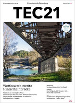TEC21 2015|48 Wettbewerb zweite Hinterrheinbrücke