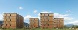 Holzwohnbau Hummelkaserne, Foto: Paul Ott