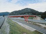 Fuß- und Radbrücke, Foto: Günter Richard Wett
