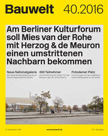 Bauwelt 2016|40 Große Schritte am Kulturforum