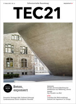 TEC21 2017|11 Beton, exponiert